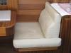 Anatomisch geformte Sitzpolster im Boot